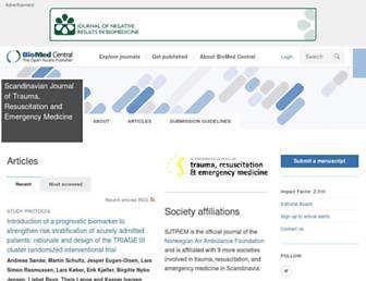 sjtrem.biomedcentral.com screenshot
