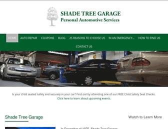 shadetreegarage.com screenshot