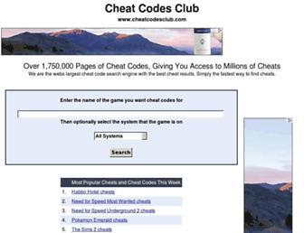 cheatcodesclub.com screenshot