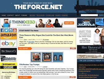 Fullscreen thumbnail of theforce.net