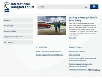 itf-oecd.org screenshot