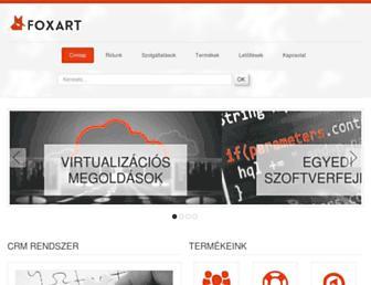 Main page screenshot of foxart.hu