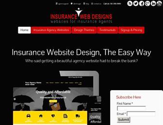insurancewebdesigns.com screenshot