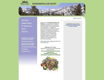 Main page screenshot of els.boalt.org