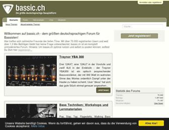 Main page screenshot of bassic.ch