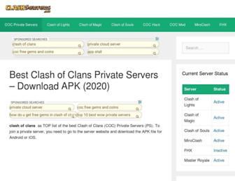 clashservers.net screenshot