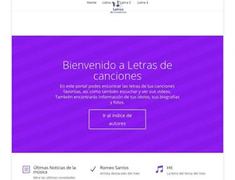 Main page screenshot of musikeiro.com.ar