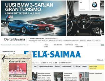 Main page screenshot of esaimaa.fi