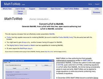 mathtoweb.com screenshot