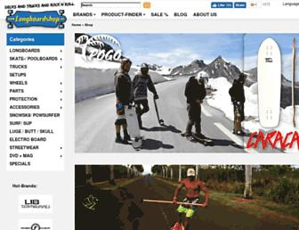 longboardshop.de screenshot