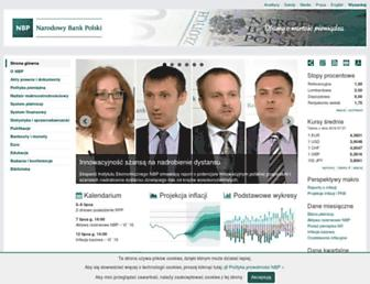 Main page screenshot of nbp.pl