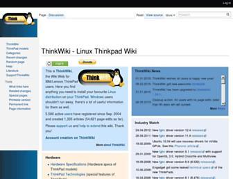 thinkwiki.org screenshot