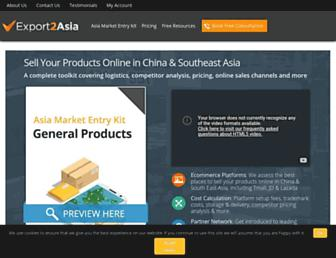 export2asia.com screenshot