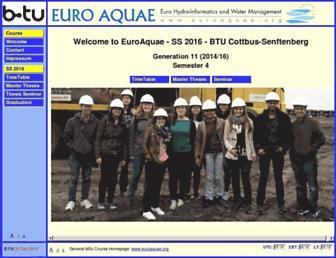 euroaquae.tu-cottbus.de screenshot