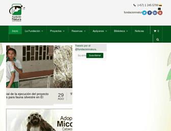 Main page screenshot of natura.org.co