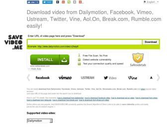 Main page screenshot of savevideo.me