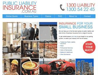 publicliabilityinsurance.com.au screenshot