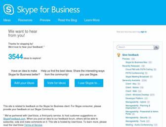 skypefeedback.com screenshot