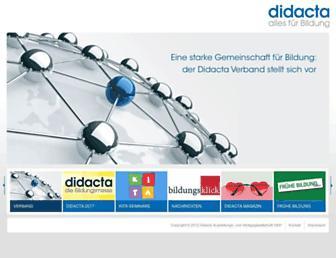 Main page screenshot of didacta.de