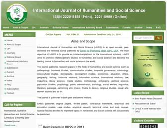 Thumbshot of Ijhssnet.com