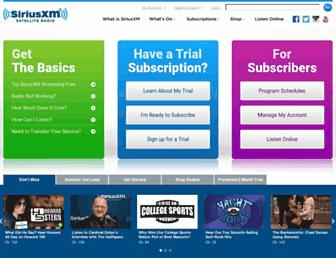 Thumbshot of Siriusxm.com
