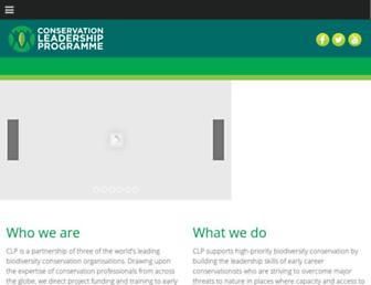 conservationleadershipprogramme.org screenshot