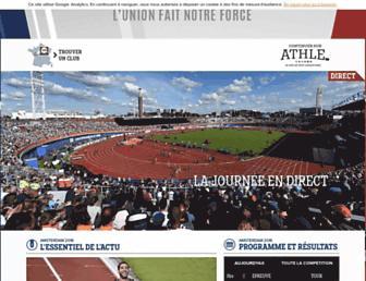 Main page screenshot of athle.org