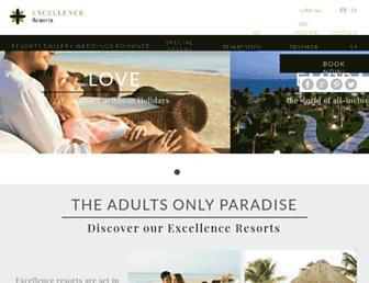 Thumbshot of Excellence-resorts.com