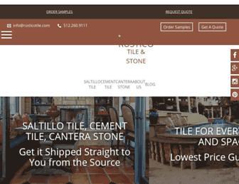 rusticotile.com screenshot