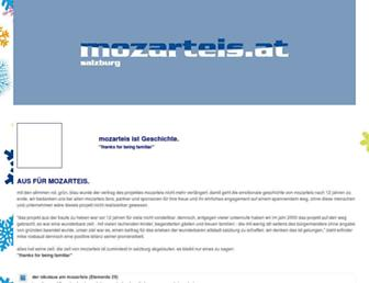 Main page screenshot of mozarteis.at