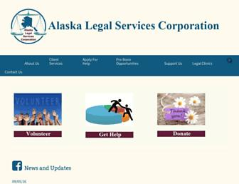 Main page screenshot of alsc-law.org