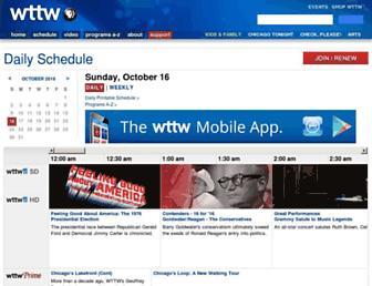 schedule.wttw.com screenshot