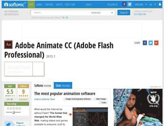 adobe-flash-professional.en.softonic.com screenshot