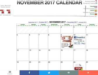 november-calendar.com screenshot