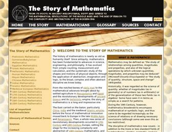 storyofmathematics.com screenshot