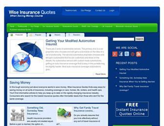 Thumbshot of Wiseinsurancequotes.com