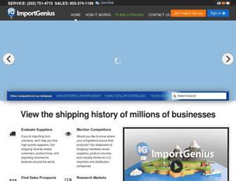 Thumbshot of Importgenius.com
