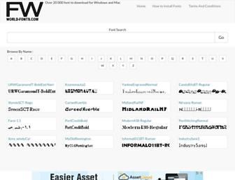 world-fonts.com screenshot
