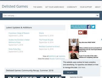delistedgames.com screenshot