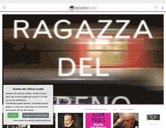 Main page screenshot of booksblog.it