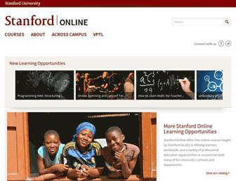 online.stanford.edu screenshot