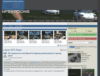 nfsaddons.com screenshot