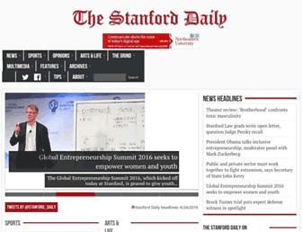 stanforddaily.com screenshot
