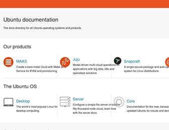 docs.ubuntu.com screenshot