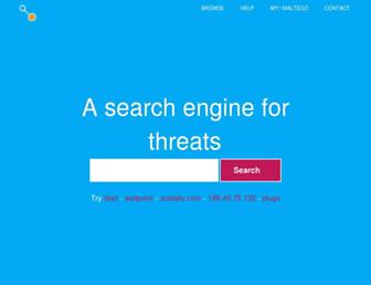 threatcrowd.org screenshot