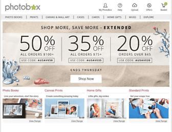 photobox.com.au screenshot