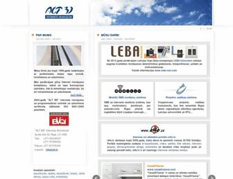 Main page screenshot of alt.lv