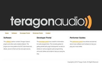 teragonaudio.com screenshot