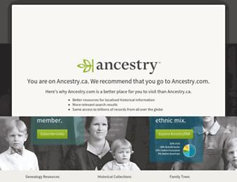 Thumbshot of Ancestry.ca