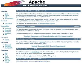 httpd.apache.org screenshot